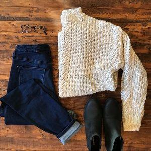 Lucky Brand Mock Neck Knit Sweater